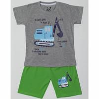 Kaos baju anak laki laki size 1 2 3 4 5 6 7 8 9 10 tahun #2287 - crane abu2, 1tahun