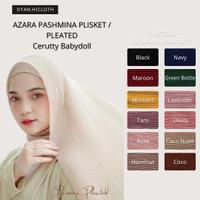 AZARA Hijab Pashmina Plisket / Pleated Cerutty Babydoll - KATALOG 2 - Stone