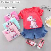 Baju Setelan Jeans Import Bayi/Anak Cewek (1-4th) - S