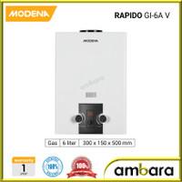 Modena Gas Water Heater RAPIDO GI 6A V / GI-6AV / GI6AV - 6 Liter