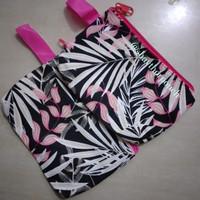 souvenir pouch kanvas bunga - pink