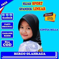 Kerudung Olahraga Hijab Instan Jilbab Olahraga Hijab Olahraga DS054 - Hitam