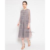 Luna, baju dress kebaya kondangan nude payet brokat tulle tille bronze
