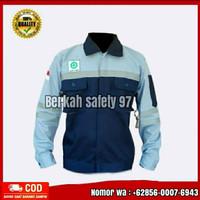 baju kerja safety K3 atasan biru dongker