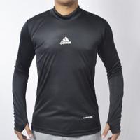 Kaos baselayer manset thumbole ADDS hitam/ baju olahraga pria running