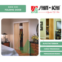 Pintu PVC Folding Door Shin Ichi Pintu Lipat Penyekat Ruangan Seri OG - Tinggi 220Cm