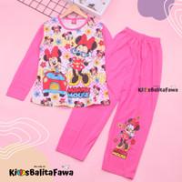 Piyama Anak Perempuan uk 7-8 Tahun / Baju Tidur Karakter Lengan Celana