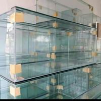 Aqurium kaca 100 × 40 ×40 tebal kaca 10 sisi mm alas 10