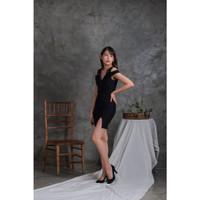 Mini Dress Sexy   Dres Bodycon   Baju Pakaian Cewek Seksi Wanita 0053 - Hitam