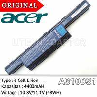 Baterai Original Laptop Acer 4738 4741 4739 4750 4755 4750 4752 4755