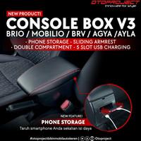 Console Box Armrest Usb + Tempat Botol All New Brio Ignis BRV Mobilio