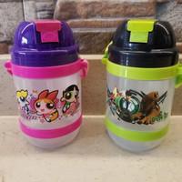 Botol Minum Karakter BPA FREE Sedotan Tali Panjang 600 ml Arniss