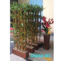 penyekat ruangan#bambu partisi#bambu pembatas ruangan#bambu artificial