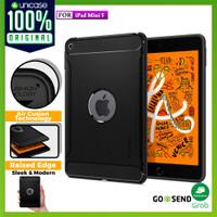 Case iPad Mini 5 Spigen Softcase Carbon Fiber Rugged Armor Casing