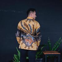 Baju Kemeja Batik Pria Motif Tulis Seperti ATBM SUTRA Pesta BX01