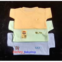 3 pcs DOLPHIN Kaos Oblong Pendek Bayi Polos Uk M, L, XL SNI - M