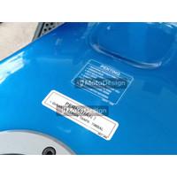 Stiker Striping Penting Perhatian Tangki Ninja ZX S R SS RR 250 Karbu