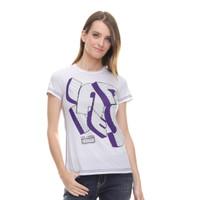 LGS - Regular Fit - Kaos Wanita - Sablon Teks - Putih - S