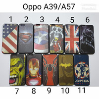 Case Soft Hitam Oppo A39 A57 Motif Superhero / SoftCase Oppo A57 A39