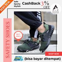 Sepatu Safety shoes sporty ringan nyaman hijau Adjuster 10
