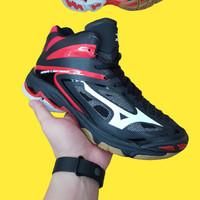 Sepatu Volly Pria Mizuno Wave Lightning Premium Original Black Hitam