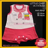 Jumper Bayi Perempuan Karakter Chef 0-6 Bulan Baju Baby Kutung Cewek