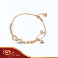 Gelang Emas HWT GOLD - BIANCA Collection - GLK059 - 17K - Kuning