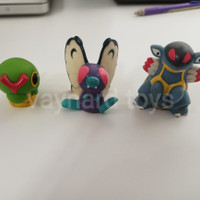 Finger doll pokemon figure caterpie butterfree armadillo isi 3