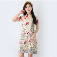 Baju Batik Wanita - Dress Batik Cewek Modern 607 Gloo