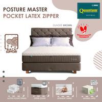 Quantum Kasur Orthopedic Posture Master Pocket Latex Zipper Brown