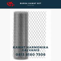kawat pagar harmonika / kawat galvanis / 2.7 mm / 1m2