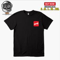 Kaos Baju Distro Bloods Logo Dada Simpel - Gilan Cloth - Hitam, S