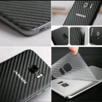 Samsung S6 Edge Plus Antigores Belakang Carbon Black Skin Garskin
