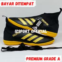 Sepatu Spatu Futsal Putsal Adidas Predator Ori Original Pria Murah 3 - Hitam Kuning, 39