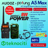 AUQOZ x Pofung A5 Max Walkie Talkie - HT UHF VHF by UV5R 8W High Power
