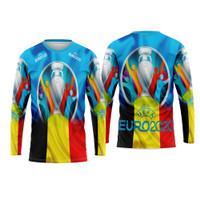 Baju Tshirt Kaos Jersey Dewasa Sepak Bola Belgia Home Euro 2021 Custom - S, Lengan Panjang