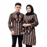 Baju Batik Couple Coupel Kemeja Tunik Sarimbit Pasangan Kapelan