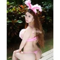 lingerie sexy piyama bajutidur sleepwear bunny bodystocking clubbing