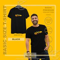 Kaos Pria Tshirt Cotton 30s Premium M L XL XXL 3D Mobil Sport Car Oto - M, Black