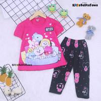 Setelan Plufy Kids Uk 2-6 Tahun / Baju Anak Perempuan Set Kids Legging