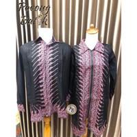 Baju Batik Couple Coupel Tunik Pasangan Kapelan Tunic Kemeja Pria