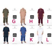 Setelan Baju Muslim Pria Qomishu Banyak Pilihan Warna - QMGS C012 - Kode G, M