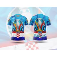 Baju Tshirt Kaos Jersey Dewasa Sepak Bola Kroasia Home Euro 2021 - S, Lengan Pendek