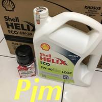 Oli shell helix ECO 5W-30. 3,5liter paket filter oli calya sigra