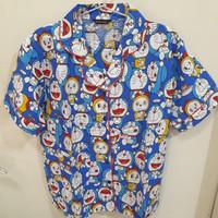 Piyama Baju Tidur Dewasa Motif Doraemon Celana Pendek Bahan Katun