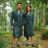 EMERALD - Robe | Kimono Unisex Pria & Wanita 100% Sleek Cotton - M