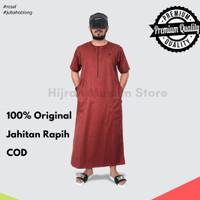 Jubah Pria Jubah Al Haramain Baju Koko Gamis Pria M L XL XXL Big Size - maroon, L