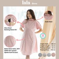 Turtle Neck Ofgice Lala Dress Baju Ibu Hamil Menyusui Modis - DRO 1021