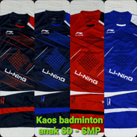 kaos badminton anak setelan baju badminton anak baju bola anak lining