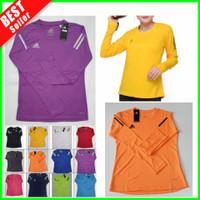 Baju Olahraga Lengan Panjang Wanita Hijab Senam Lari Kaos Fitness Gym